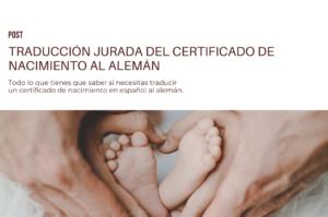 Traducir certificado de nacimiento al alemán